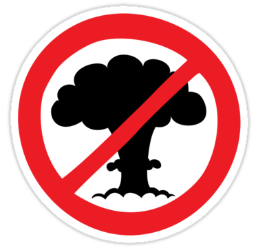 An illustration of a �No nuclear explosions� sign