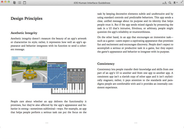 Sample from 'iOS Human Interface Guidelines'