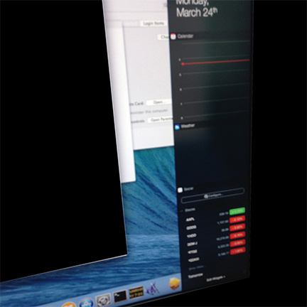 OS X 10.10 Notification Center (Image via The Verge)