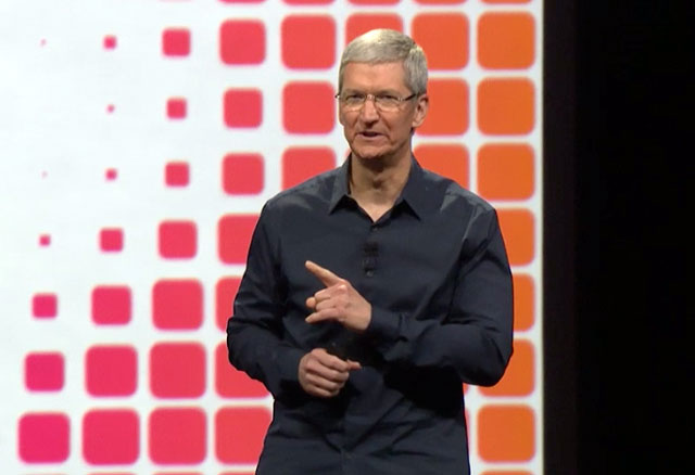 Tim Cook at the WWDC Keynote