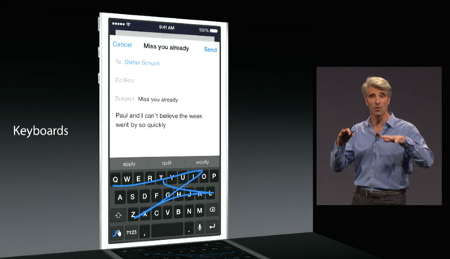 Keyboards in iOS 8