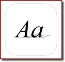 The AnyFont app icon