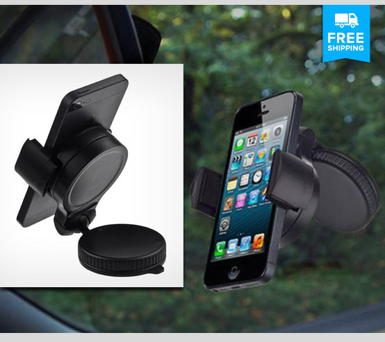 Universal Car Mount w/360 Degree Adjustable Fit for $14