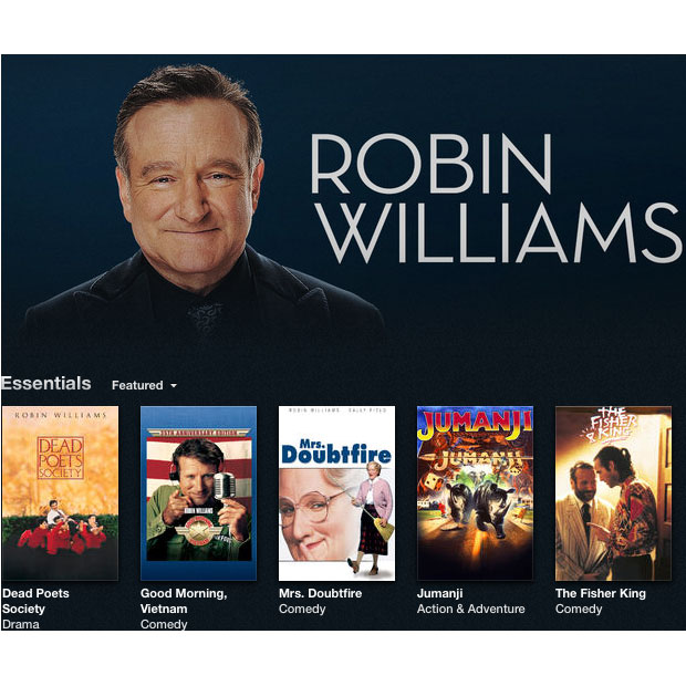 Apple Offers Robin Williams iTunes Tribute for Movies