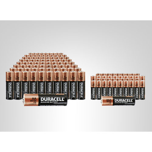 Last Chance for Duracell Bundle: 100 AA and 50 AAA Batteries for $56