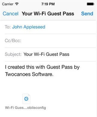 Guest Pass for iOS 7 Allows Access to Your Wi-Fi Network Without Revealing the Password