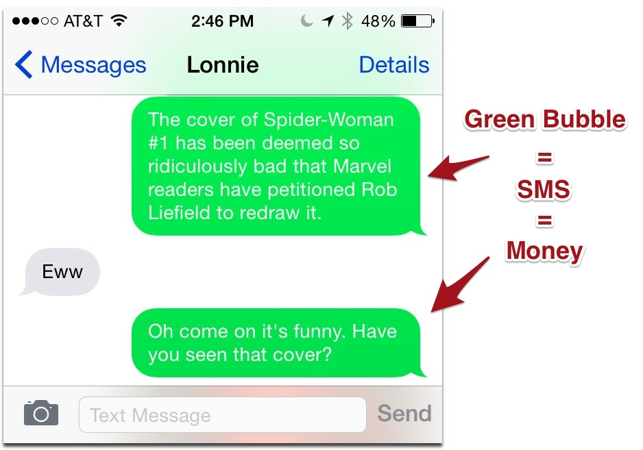 iphone green messages how to tell imessages from text messages the mac observer 11903