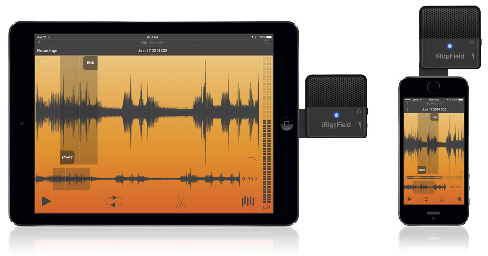 iRig Mic Field, a Digital Stereo Mic for Lightning iPhone and iPad