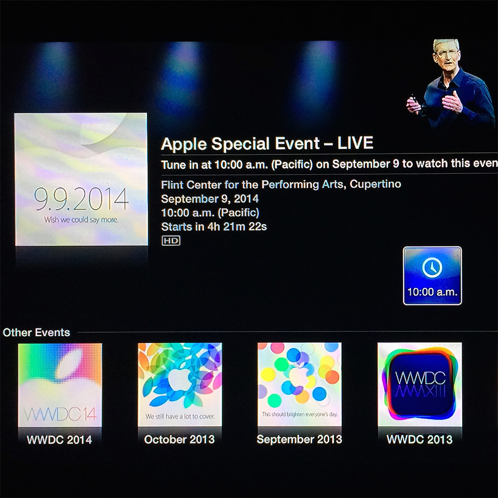 Apple fires up Apple TV Special Events channel for today's product announcements