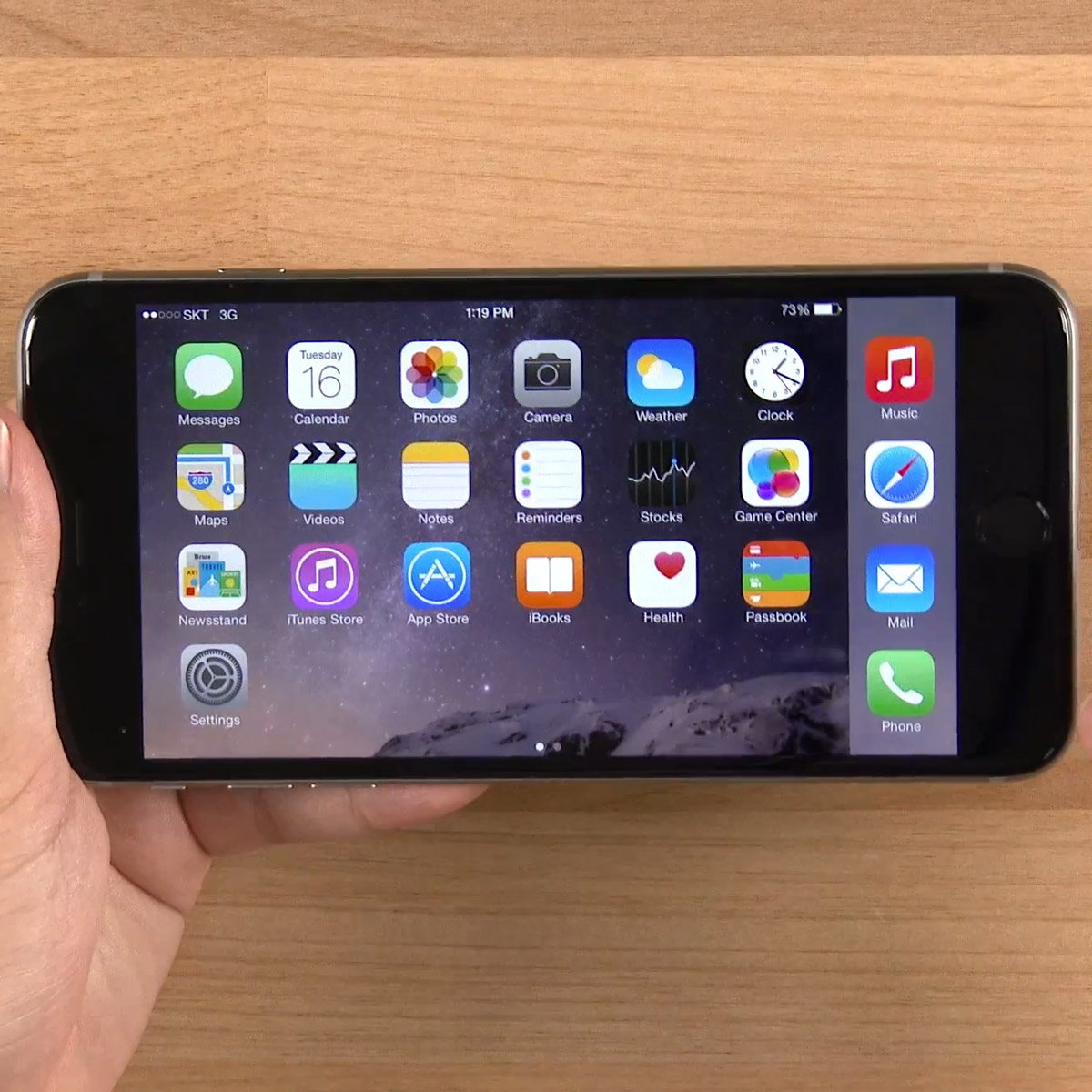 Hands on Video of iPhone 6 Plus Demonstrates Landscape Mode