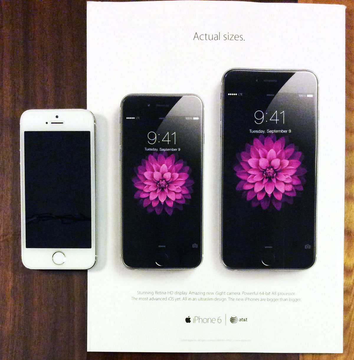 Apple Features 'Actual Size' iPhone 6/Plus in Rolling Stone Ad