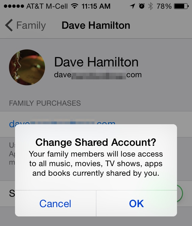 how to set up family sharing on apple itunes