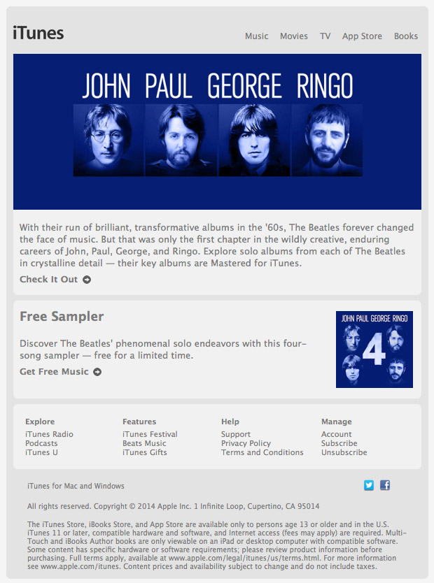 Apple Gives Away 'John Paul George Ringo' EP
