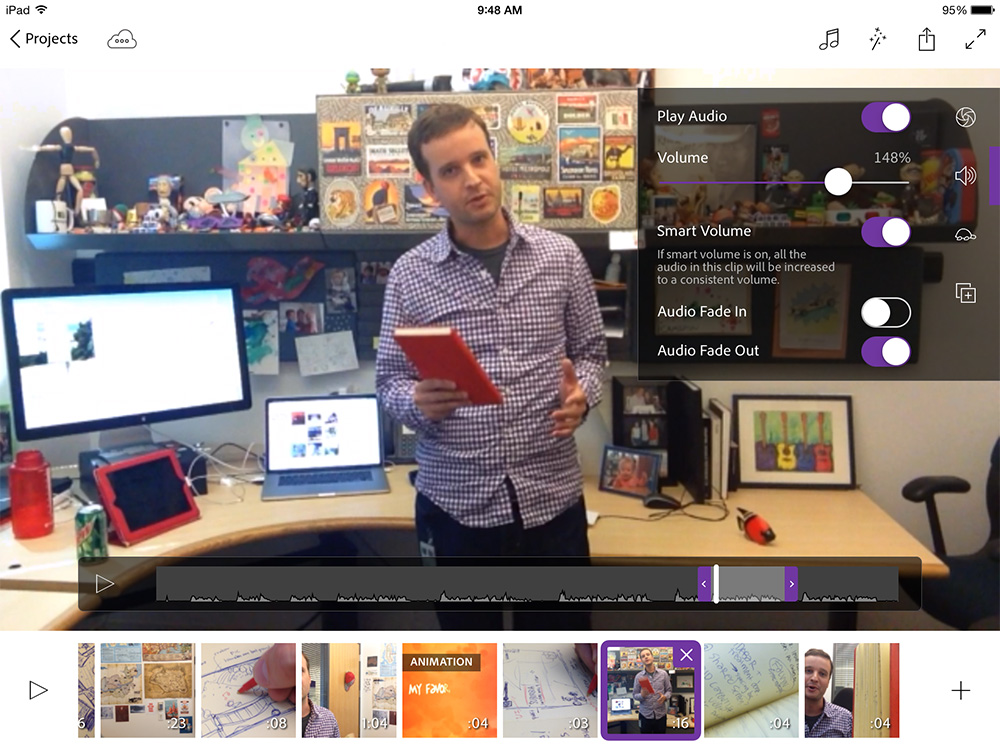 Edit videos on your iPad with Premiere Clip, then send your projects to your Mac