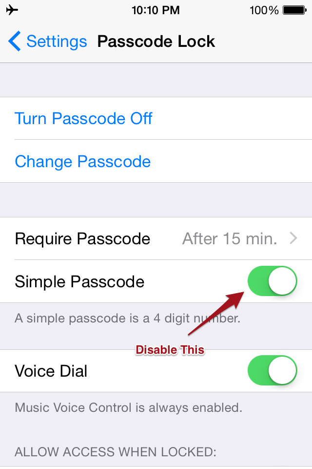 How to Set A Complex iPhone Numeric Passcode That Doesn't