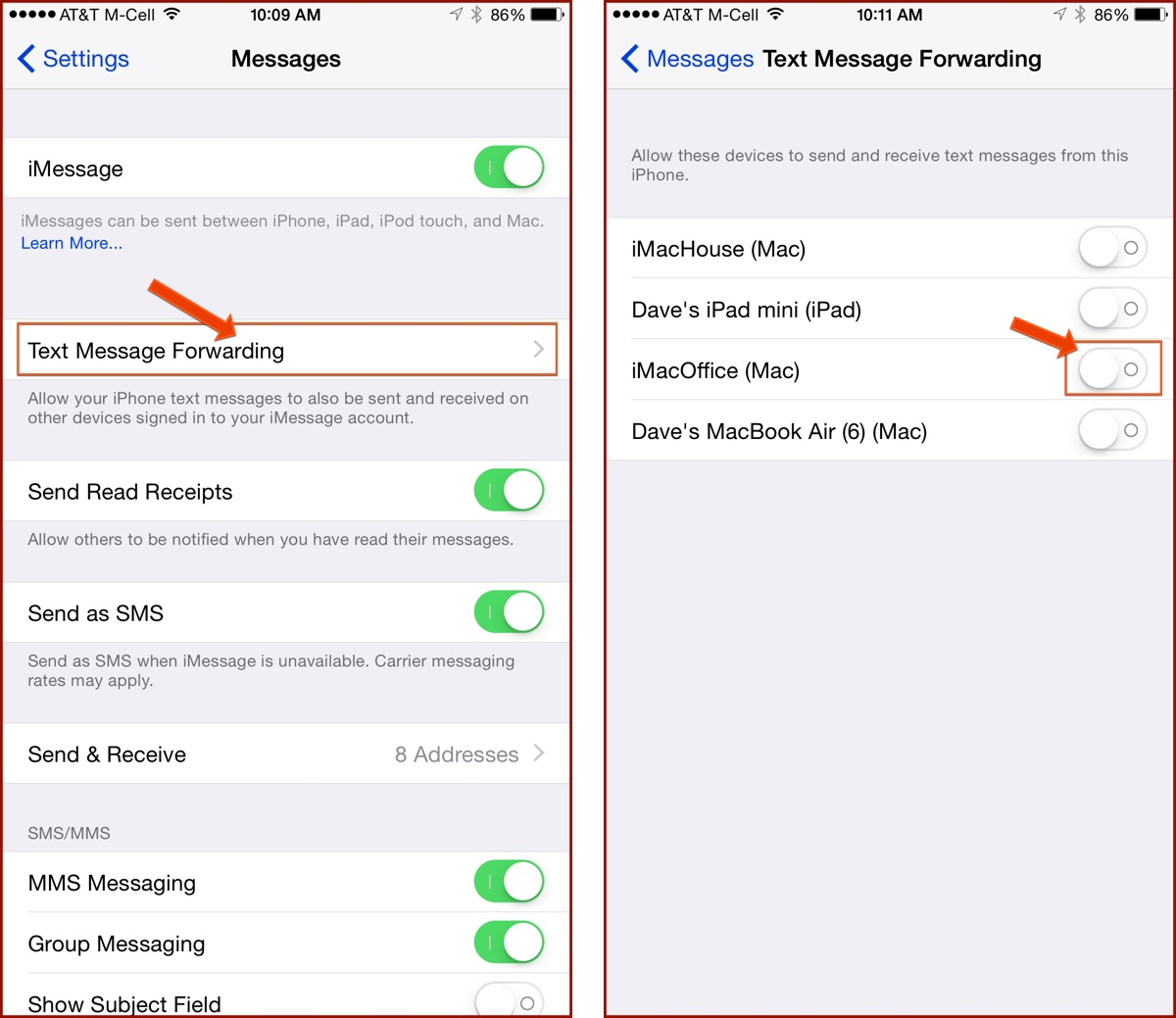 iphone text forwarding how to enable apple s sms relay on your mac or the 12372