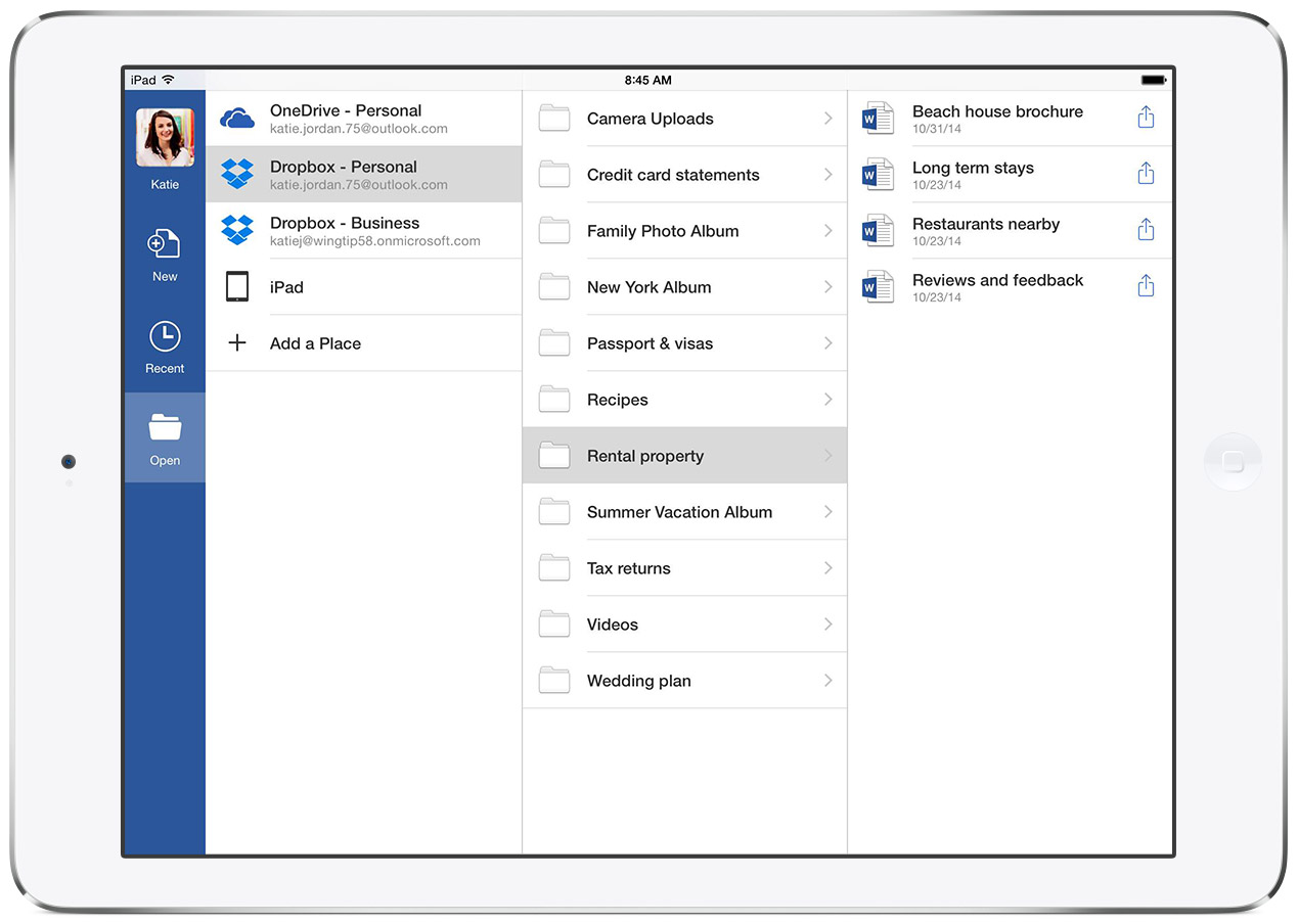Office for iPad with Dropbox