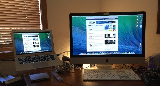 how to connect from macbook to imac