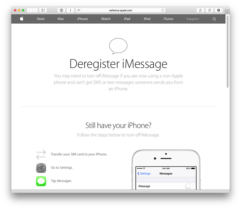 Apple's iMessage reregistration tool fixes lost SMS problems for former iPhone users