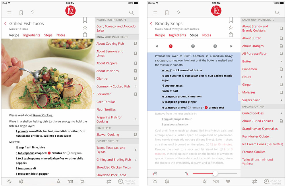 Plan your Thanksgiving dinner on your iPad with Joy of Cooking