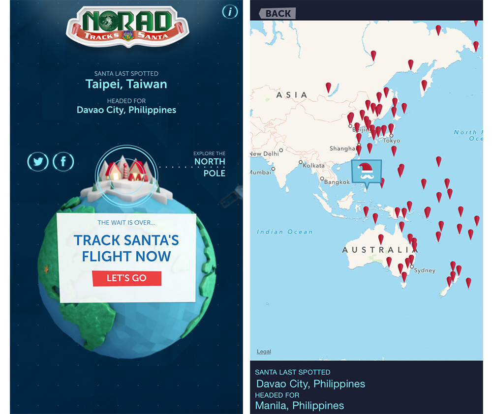 NORAD lets you track Santa from your iPhone