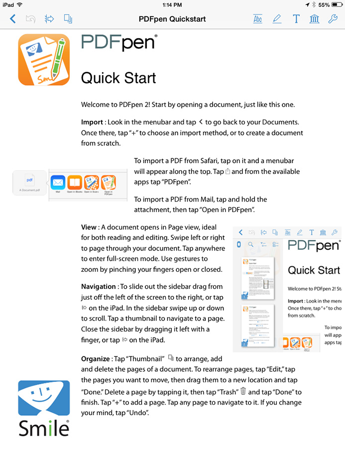 PDFpen 2 for the iPhone and iPad