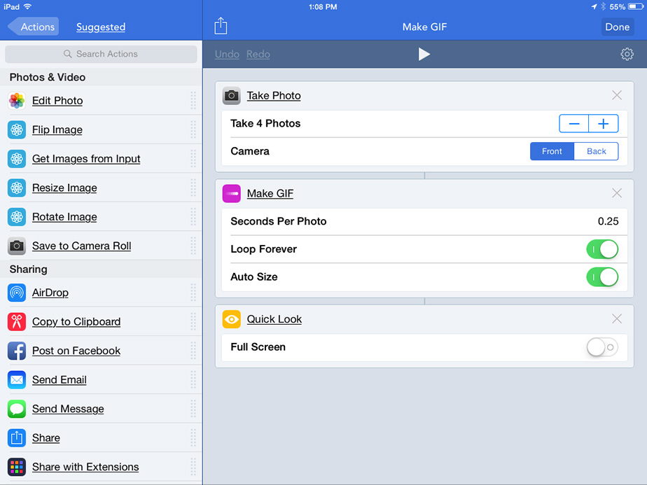 Workflow for the iPad and iPhone
