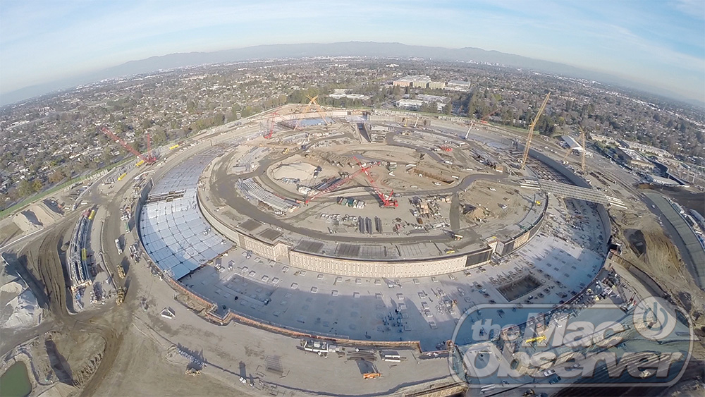 New Aerial Shot Shows Apple Campus Outer Ring Construction Progression