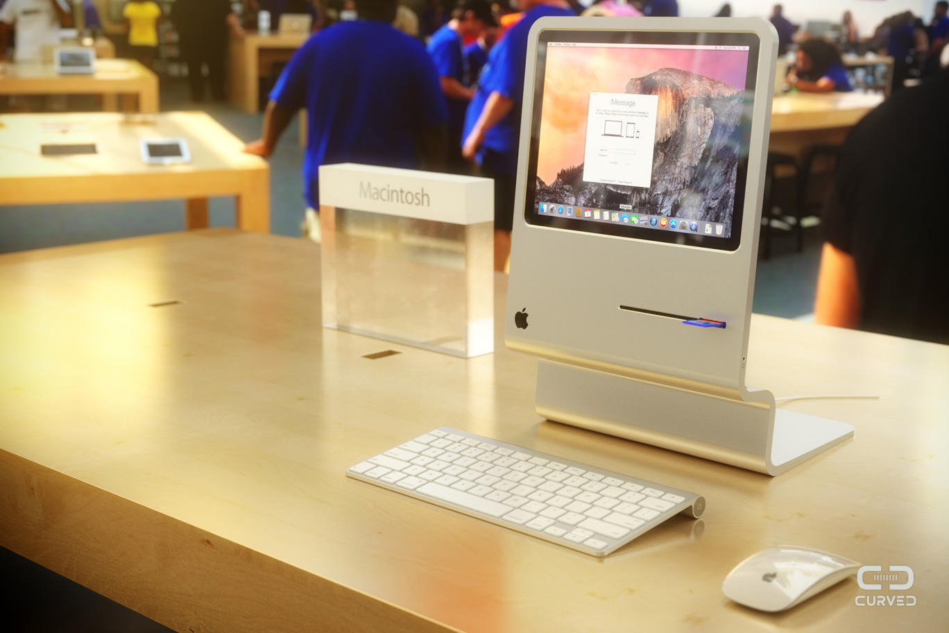 Concept Images Take Original Macintosh to Modern Minimalist Extreme