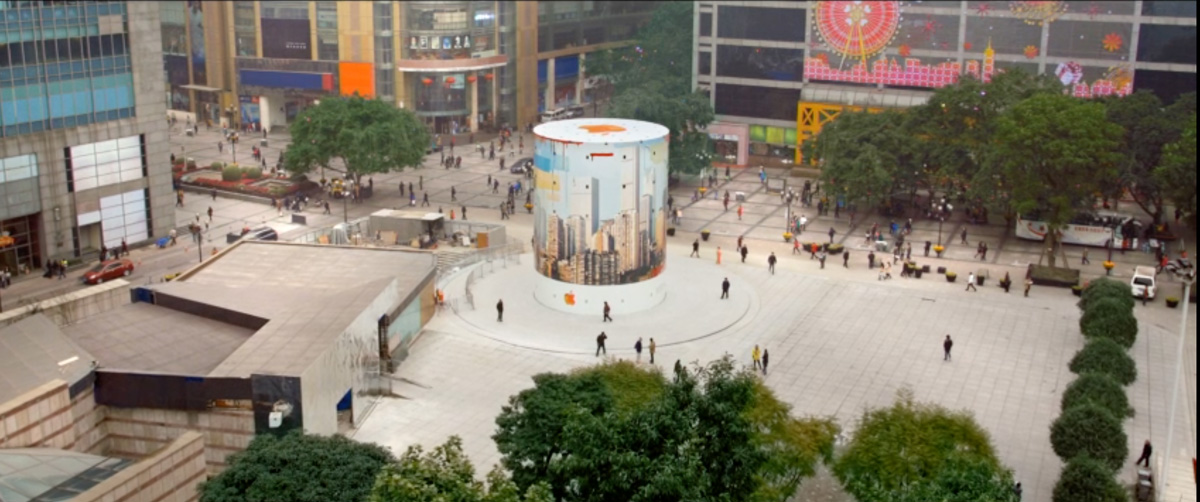 Apple video shows another beautiful mural for chongqing for Apple boutique mural