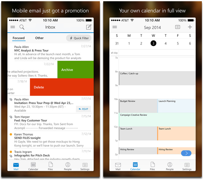 Microsoft Brings Outlook to iPhone and iPad