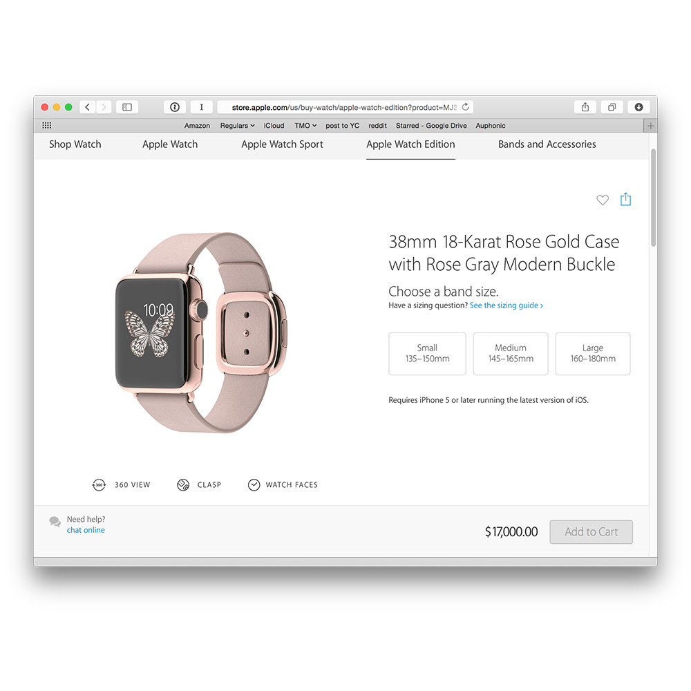Apple Watch Edition can cost you $17,000