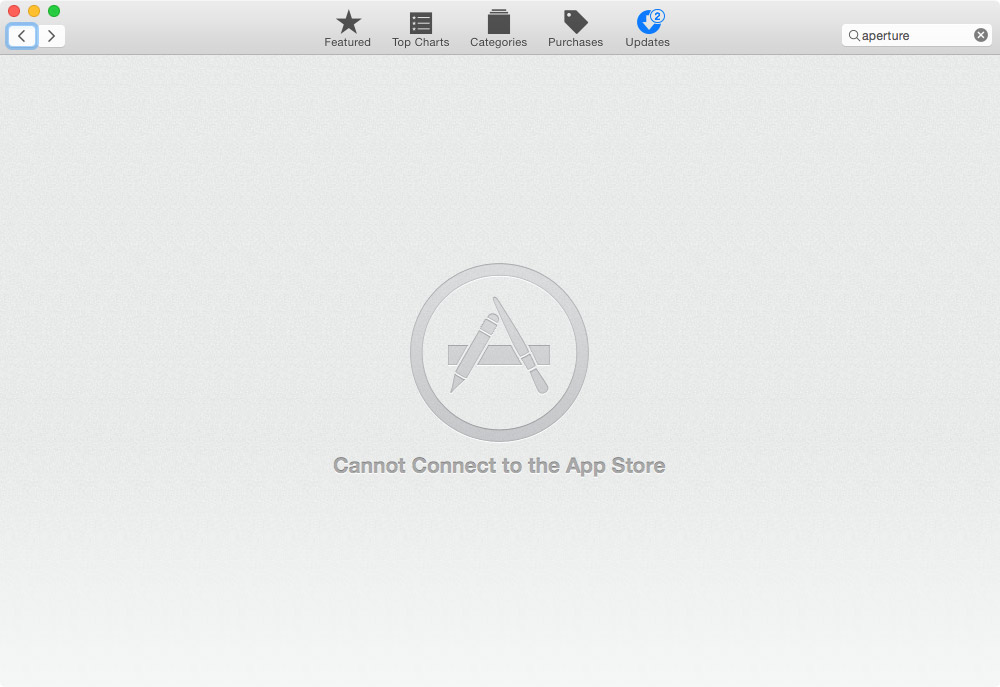Mac App Store Outage