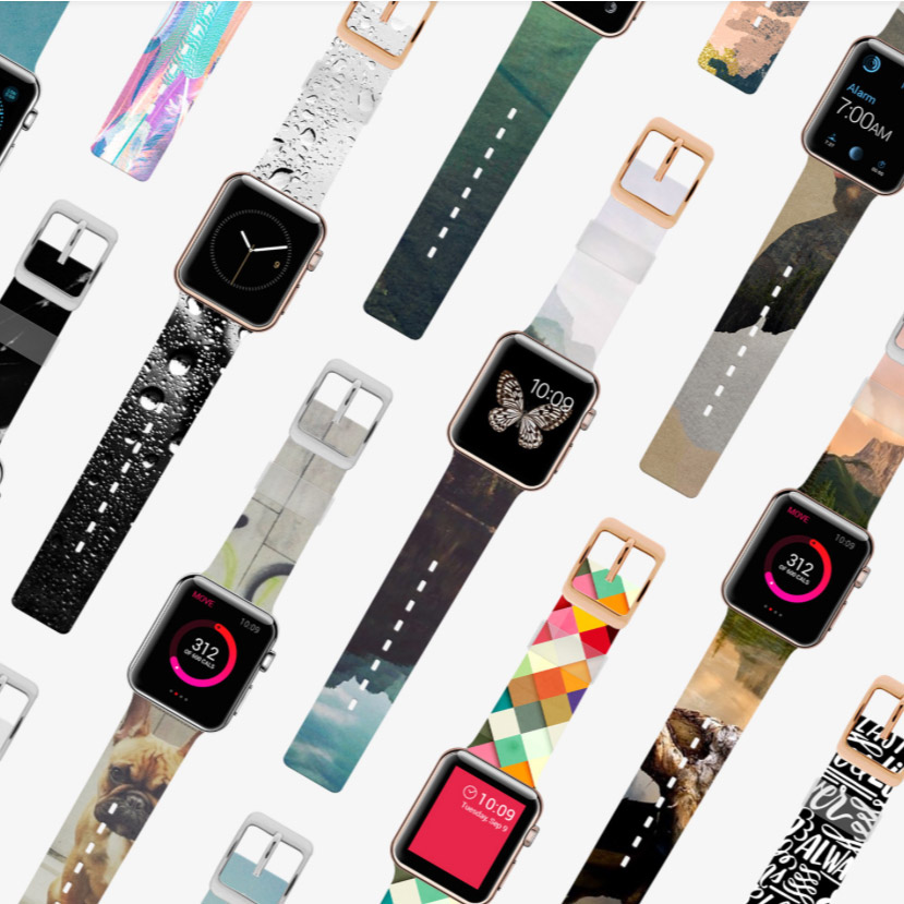 Your Selfies on a Customizable Apple Watch Band? Check!