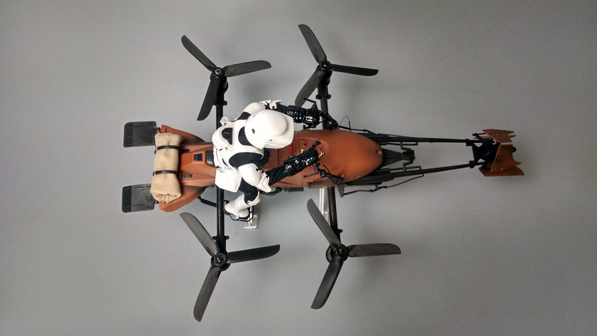 The Quadcopter Turned into a 'Star Wars' Imperial Speeder