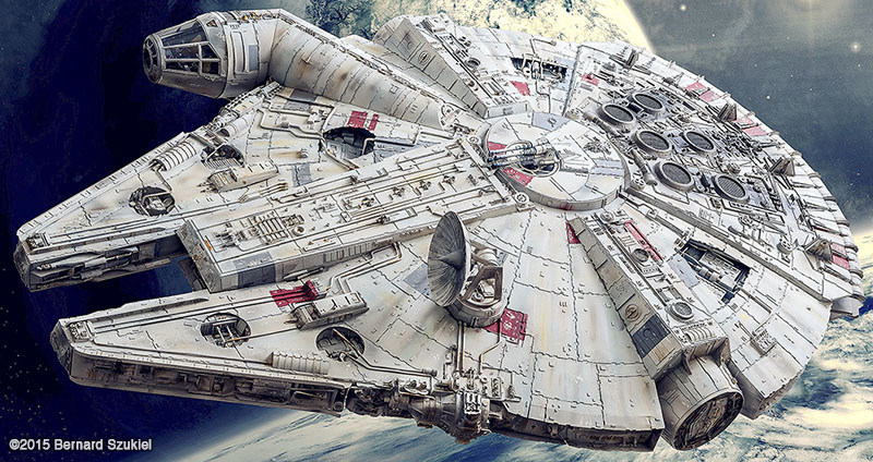 Paper Millennium Falcon Model Proves Arts & Crafts are Cool