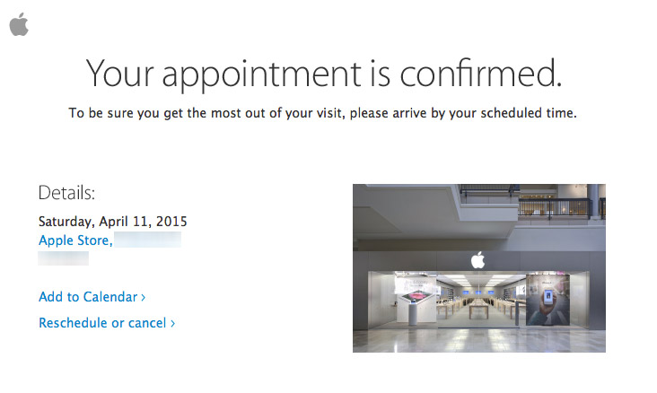 Universe how to cancel an apple appointment online rep, Brian, stood