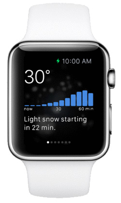 Dark Sky lets you know when it's going to rain or snow before you get wet