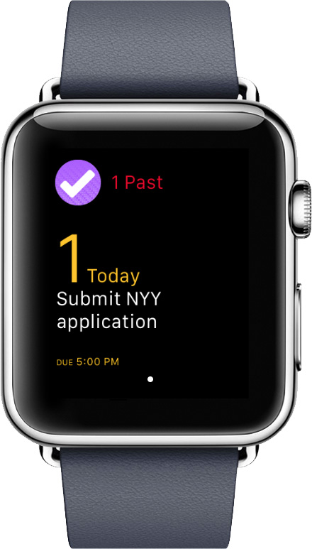 Track your tasks on your wrist with OmniFocus