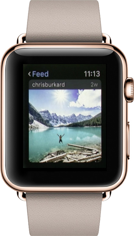 Check out your Instagram feed on Apple Watch
