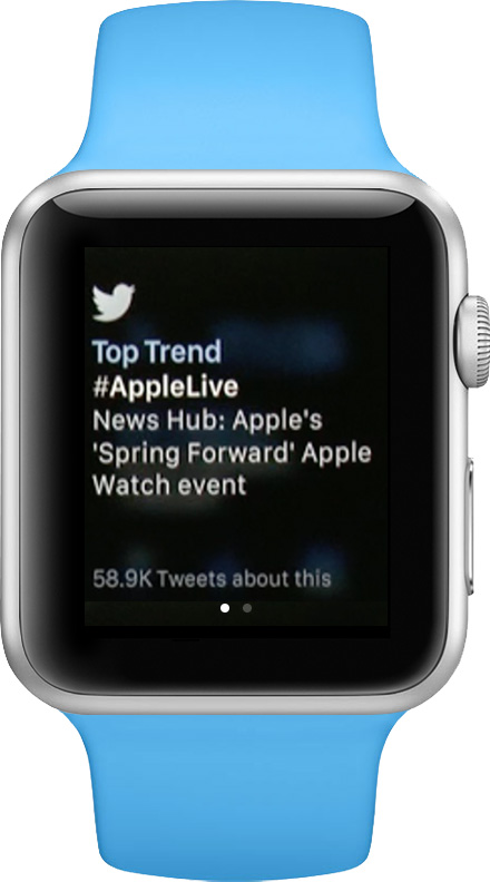Follow your Twitter stream from your wrist