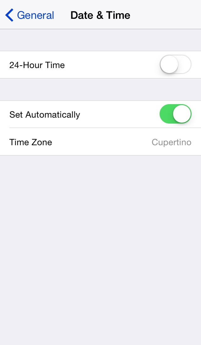 iOS Date and Time preferences