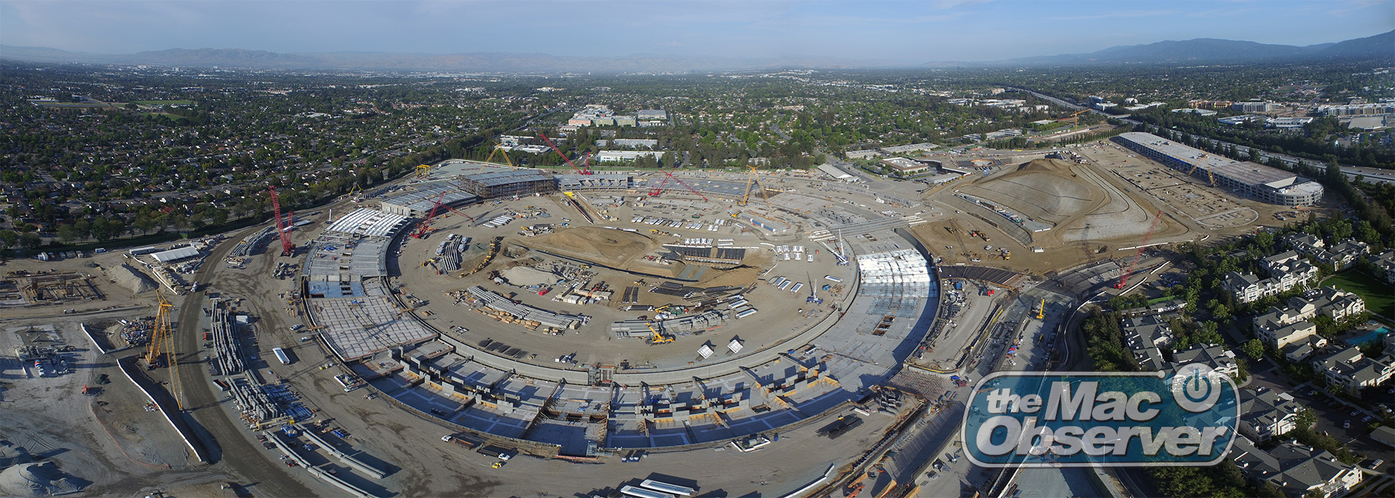 Apple Campus 2 aerial panorama