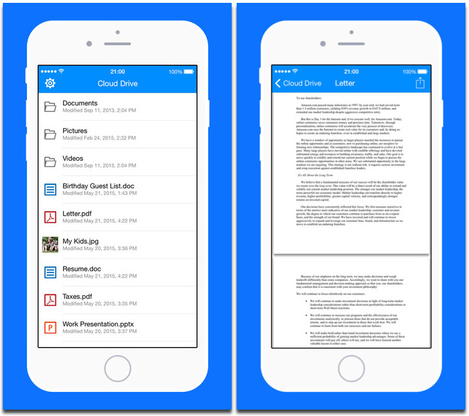 Amazon Cloud Drive Comes to iOS App Store