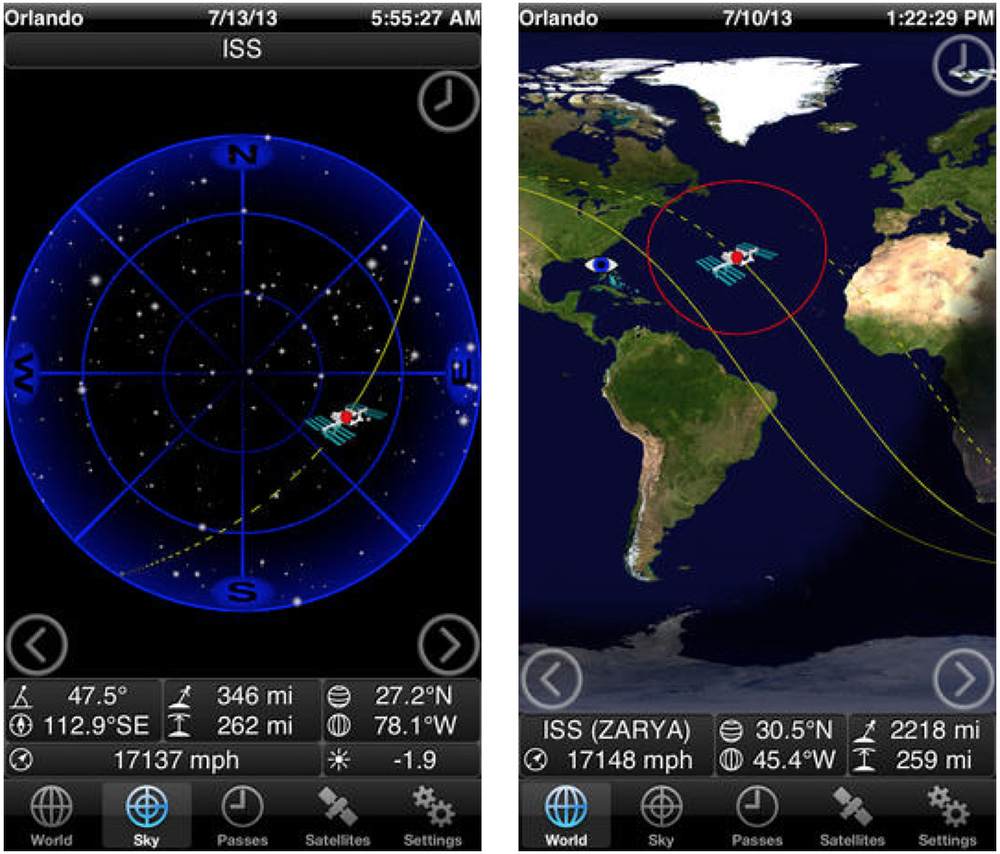 Need lots of visuals for your satellite tracking? GoISSWatch has you covered.