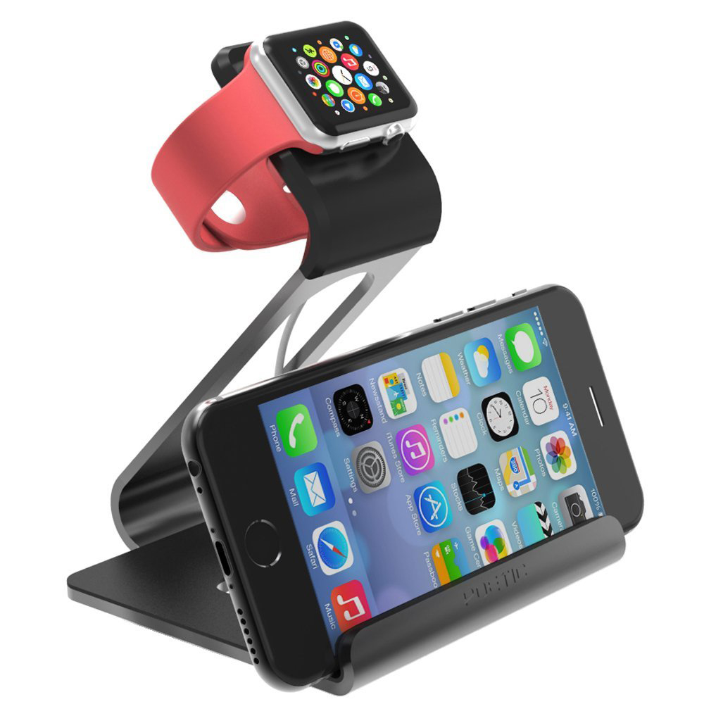 A Handy Apple Watch and iPhone Stand for Under $20