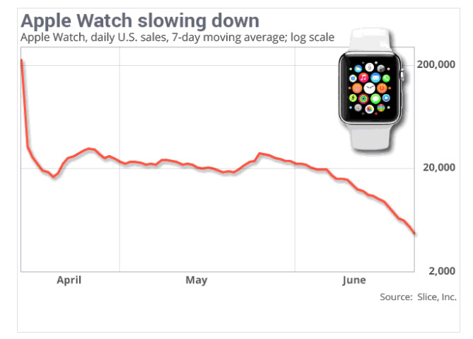 Slice Intelligence Apple Watch Chart