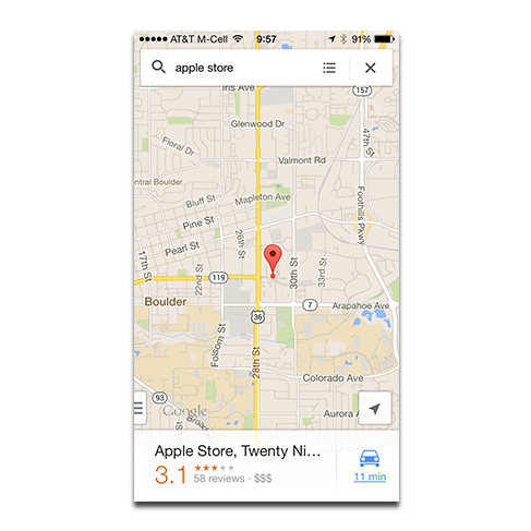 Google adds offline viewing to iPhone Maps app