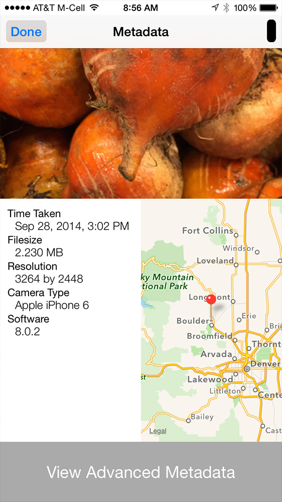 Photo Investigator shows image metadata in apps outside of Photos