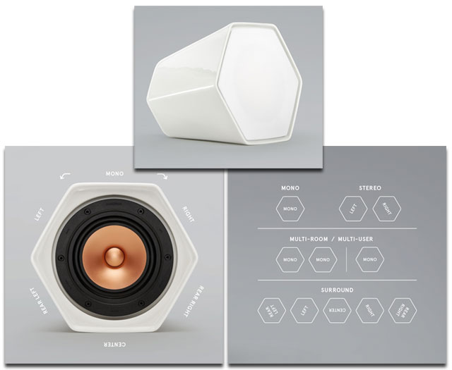 Unmonday Model 4.3 - Wireless Ceramic Multi-Channel Airplay Speakers with a Twist